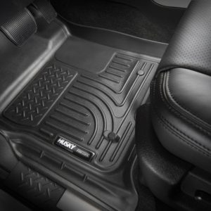 Coverking Front and Rear Floor Mats for Select Nissan Titan Models 70 Oz Carpet Oak
