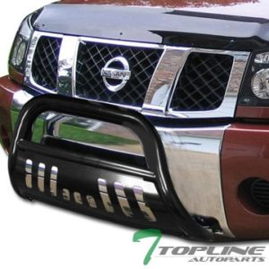 Topline Autopart Black Bull Bar Brush Push Bumper Grill Grille Guard For 04-15 Nissan Titan